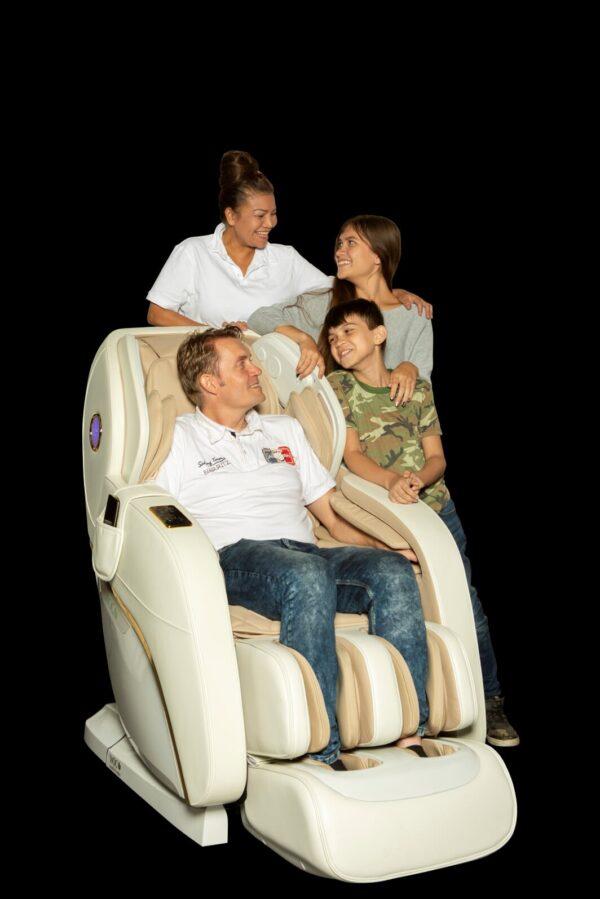 Apollo hvid massagestol - familiehygge