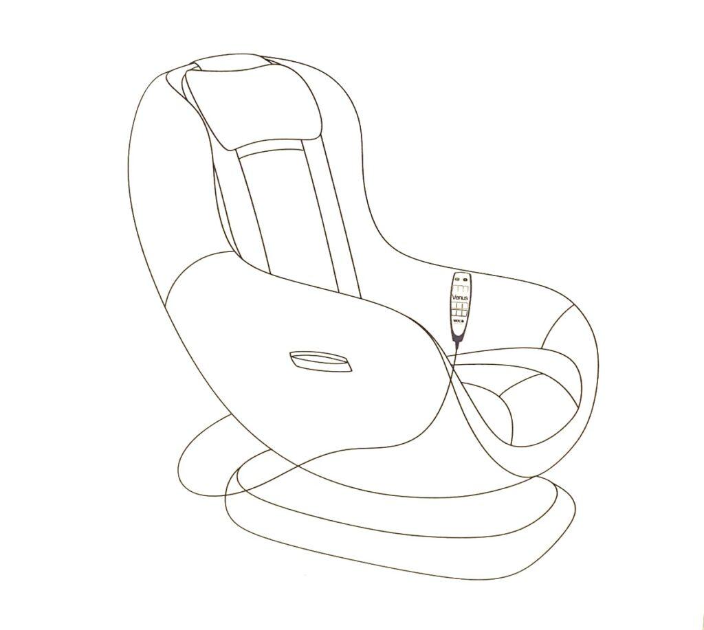 Venus massagestol - animations grafik comfort til stuen